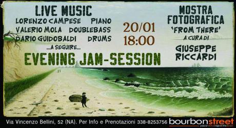 Concerto, mostra, jam start 18:00, Napoli centro- 20 Gennaio.
