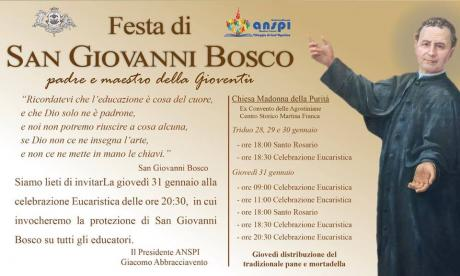 Festa di San Giovanni Bosco e tradizionale distribuzione del pane e mortadella