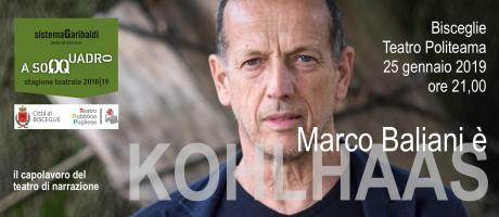 Kohlhaas di Marco Baliani a Bisceglie