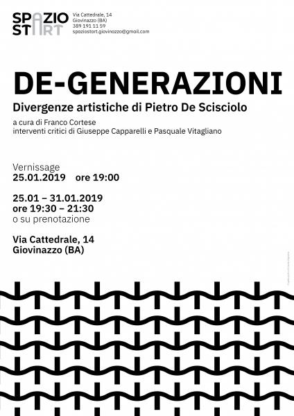 DE-GENERAZIONI - Divergenze artistiche di Pietro De Scisciolo