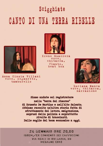 Scigghiate feat Anna Cinzia Villani, Canto di una terra ribelle