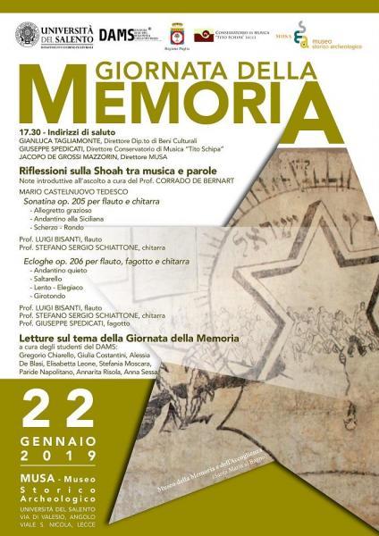 """L'Università del Salento commemora la """"Giornata della memoria"""""""