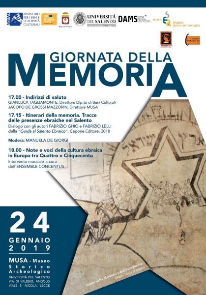 """L'Università del Salento commemora la """"Giornata della memoria"""" - Seconda Giornata"""