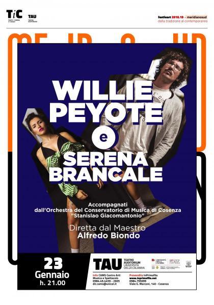 Willie Peyote e Serena Brancale insieme in concerto