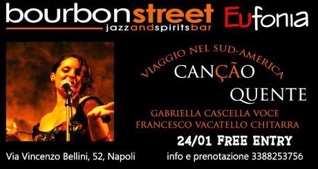 """Napoli centro: """"Viaggio in Sud-Ameriva Live music"""" 24 Gennaio"""