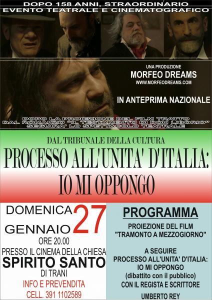 Processo all'Unità d'Italia- Io mi oppongo