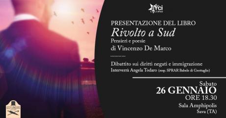 """Presentazione del libro """"Rivolto a Sud"""" pensieri e poesie di Vincenzo De Marco"""