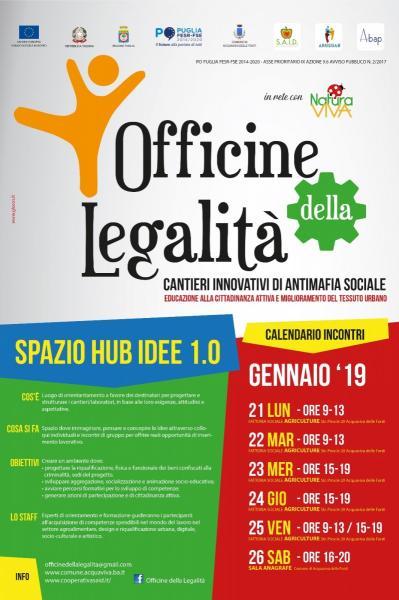 LE OFFICINE DELLA LEGALITA' SI RIEMPIONO DI IDEE