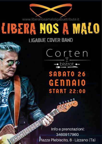 """""""Libera nos a malo""""-Ligabue cover band live al Corten bistrot"""