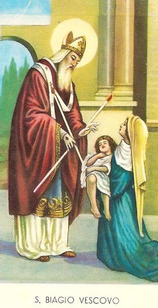 Benedizione della gola in onore di San Biagio