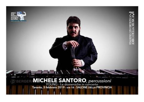 Michele Santoro, Percussioni