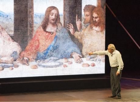 "Vittorio Sgarbi in ""Leonardo"""