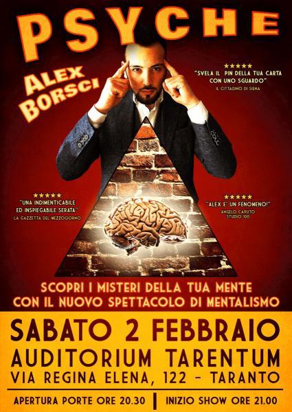 Alex Borsci: PSYCHE (spettacolo di mentalismo)