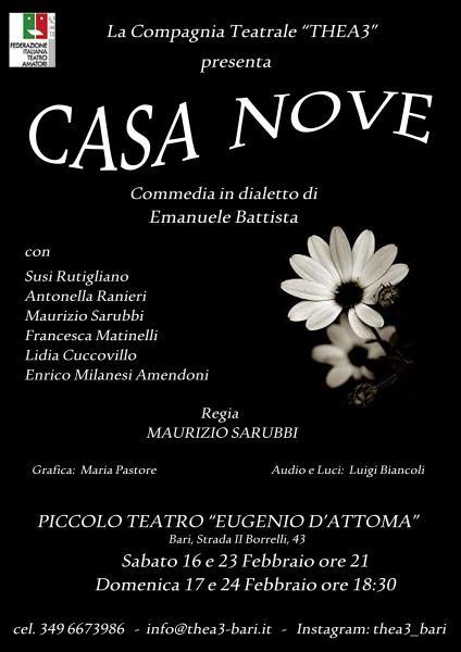 """Commedia in dialetto """"Casa nòve""""  Compagnia THEA3"""