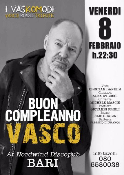 Buon compleanno VASCO- I Vaskomodi at Nordwind Discopub