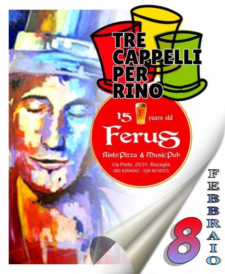 """RINO GAETANO live tribute @ FERUS con i """"TRE CAPPELLI PER RINO"""""""