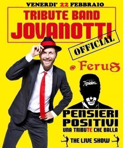 "Jovanotti Special Tribute live con i ""Pensieri Positivi"""