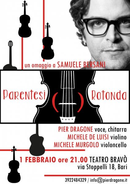 PARENTESI ROTONDA - Un omaggio a Samuele Bersani