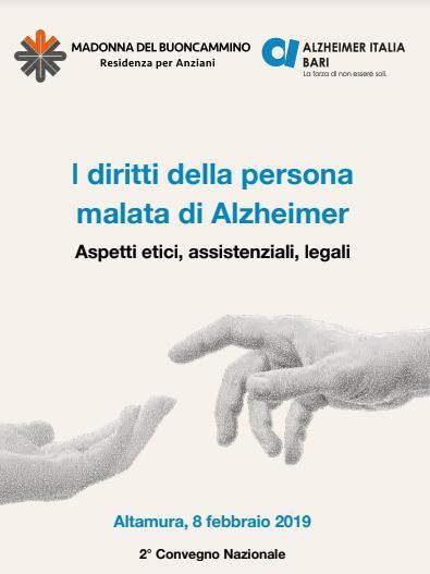 """Convegno nazionale """"I diritti della persona malata di Alzheimer"""""""