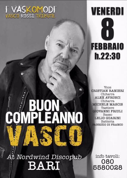 Buon Compleanno Vasco ! I Vaskomodi - Vasco Rossi tribute in concerto