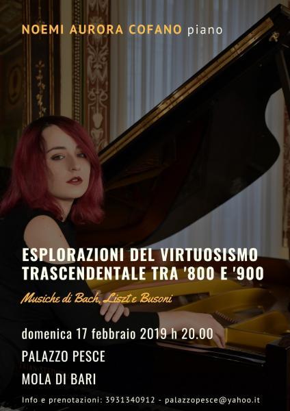 """Il virtuosismo trascendentale tra '800 e '900"""" [Noemi Aurora Cofano Piano Recital]"""