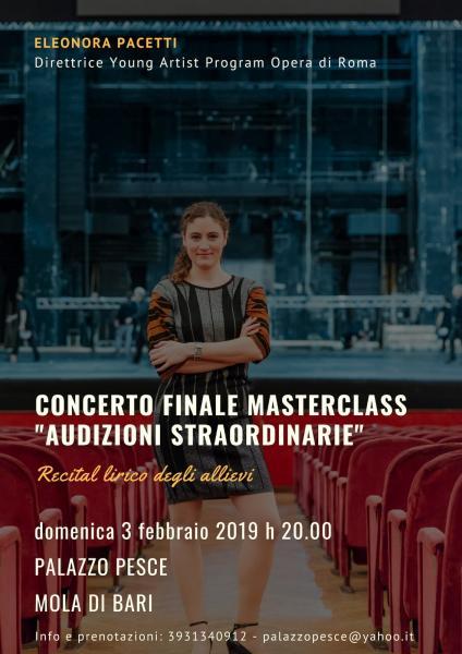 """""""Concerto finale Masterclass Audizioni straordinarie"""" [Recital lirico]"""