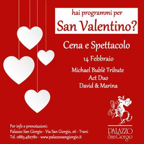 San Valentino a Palazzo San Giorgio Trani