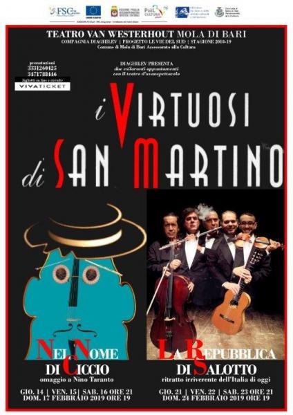 LA REPUBBLICA DI SALOTTO - Ritratto irriverente dell'Italia di oggi. I Virtuosi di San Martino al Teatro Van Westerhout