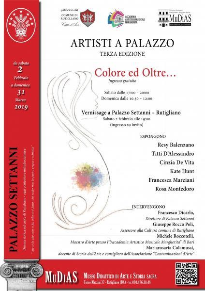 """""""Artisti a Palazzo"""" - terza edizione - """"COLORE ED OLTRE..."""""""