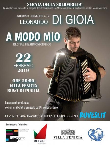 A MODO MIO - intervista/concerto al M° Leonardo Di Gioia