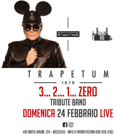 3 2 1 Zero Renato Zero Tribute Band a Bisceglie