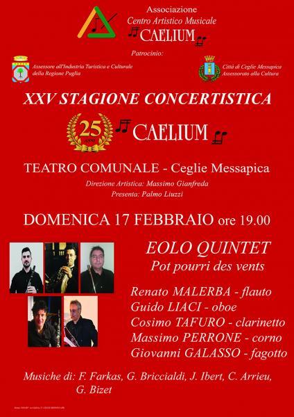 XXV STAGIONE CONCERTISTICA CAELIUM