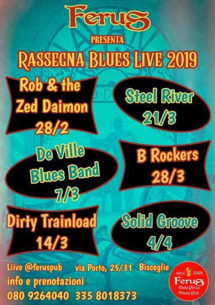 """GIOVEDI' BLUES live @ FERUS con """" ROB & THE ZED DAIMON """""""
