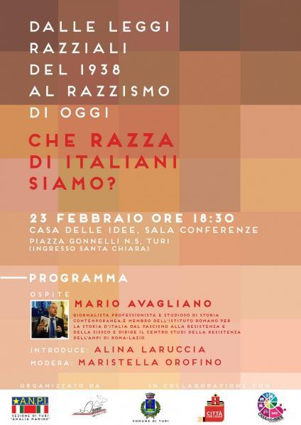 MARIO AVAGLIANO e LE LEGGI RAZZIALI: Che razza di italiani siamo ?