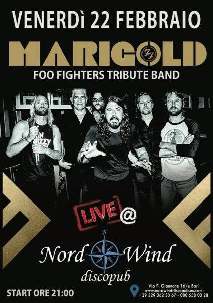 Marigold - Foo Fighters Tribute in concerto al Nordwind discopub