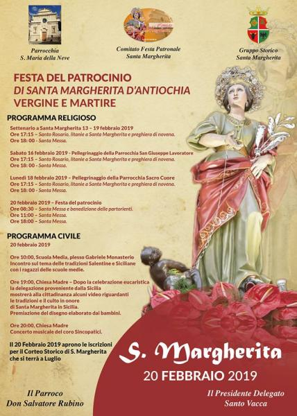 Festa del patrocinio di Santa Margherita V. M.