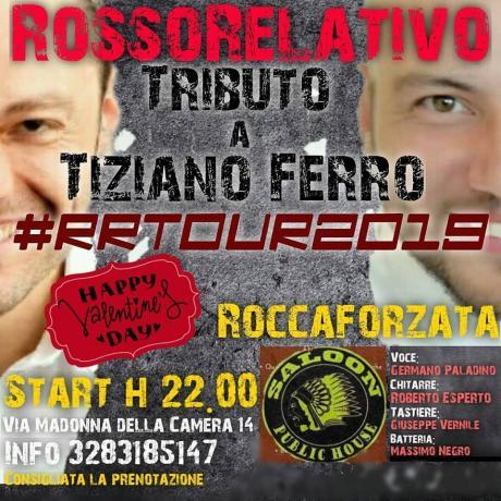 RossoRelativo - Tributo a Tiziano Ferro live@Saloon Public House