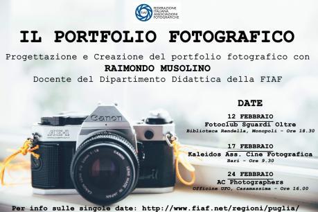 Il Portfolio Fotografico – Incontri con Raimondo Musolino