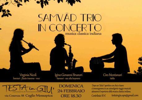 SAMVAD TRIO IN CONCERTO - concerto di musica classica indiana