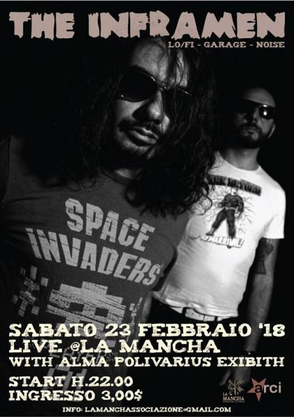 The Inframen [Lo/Fi Noise Duo] live at La Mancha