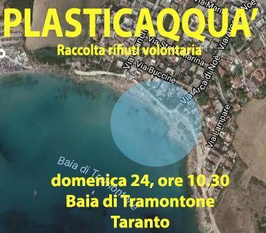 Raccolta rifiuti volontaria presso spiaggia Tramontone - Plasticaqquà Taranto