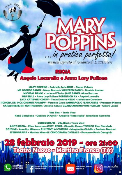 """MARY POPPINS...in pratica perfetta!"" musical"
