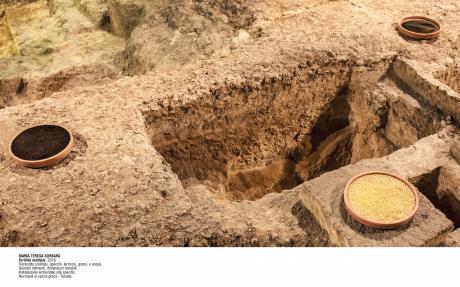 Due importanti eventi di Arte Contemporanea nelle aree archeologiche  di via Marche e via Terni. Installazioni site specific delle artiste Lucia Rotundo e Maria Teresa Sorbara