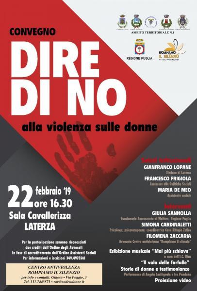Dire no alla violenza sulle donne