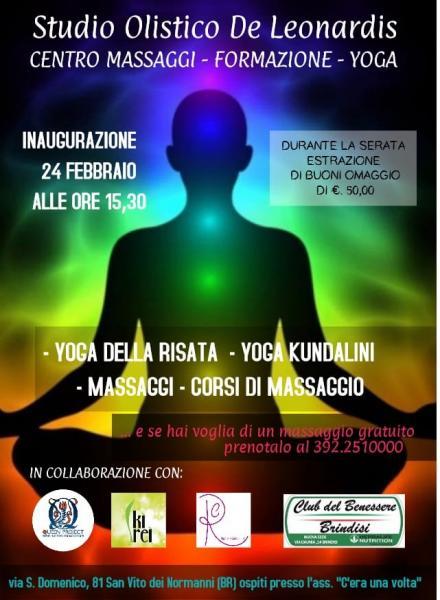 DISCIPLINA OLISTICA OPEN DAY GRATUITO Il 24 Febbraio a San Vito dei Normanni