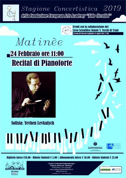 Recital di pianoforte - Yevhen Levkulych
