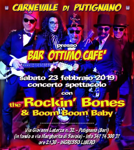 Let's Carnival party with... the devilish ROCKIN' BONES & Boom Boom Baby
