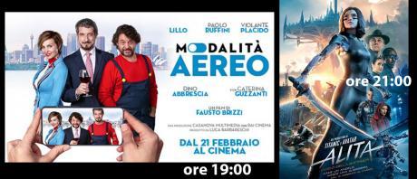 Sala1: MODALITA' AEREO (ore 19:00) - ALITA ANGELO DELLA BATTAGLIA (ore 21:00)