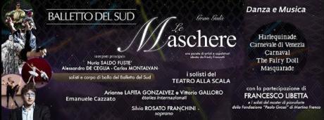 "Fredy Franzutti porta on stage ""Le maschere"""