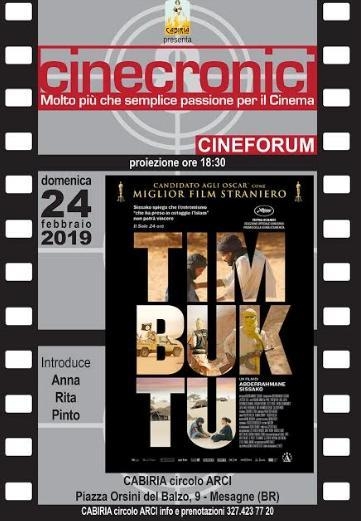 """Timbuktu"" per la rassegna Cinecronici"
